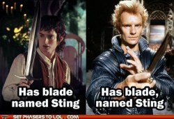 Mind your punctuation! [Frodo: has blade named Sting. Dune: has blade, named Sting.] (via The Magic Comma)