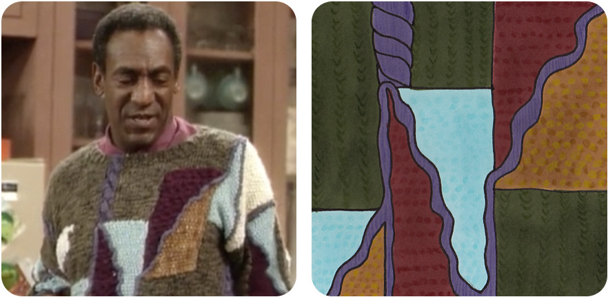 "thecosbysweaterproject:  Season 3, Episode 12: ""Cliff in Charge"" Clair is asked to speak at Hillman College and Cliff is SHOCKED to realize that he wasn't. He will be staying home for the weekend and has no idea what he's in for!  At least he knows how to dress!"