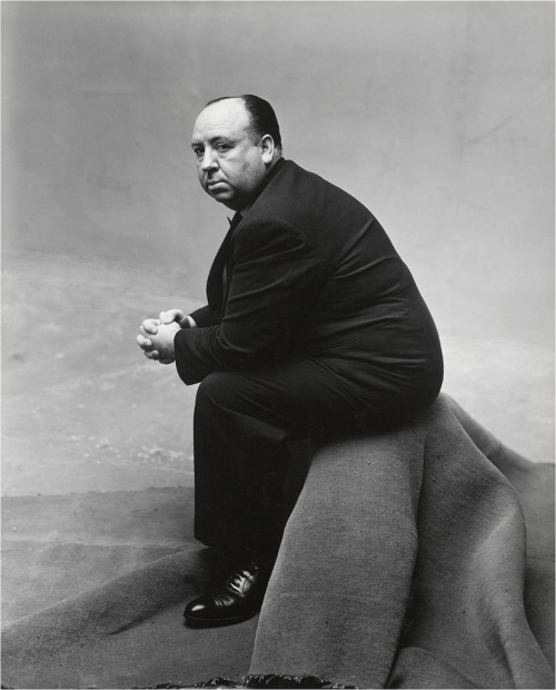 Afred Hitchcock, 1948 (by John McNab)  Photographer: Irving Penn.