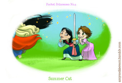 Pocket Princesses 3: Summer Cut Yeah, I want this to be a weekly thing. Every Friday night :) Also, Pocket Princesses #0 is now in colour!