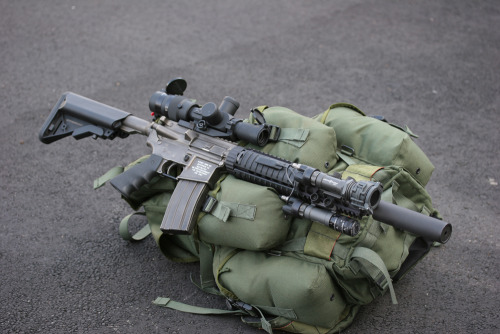 gunrunnerhell:  Custom AR (As the old saying goes… This is my rifle and there many like it but this one is mine. It holds very true to the AR rifle series since you can literally customize every single piece to meet your requirements or persona. Can get very expensive and addicting buying new accessories for your rifle but in the end it's worth it. By the way that one isn't my rifle, still building mine.)