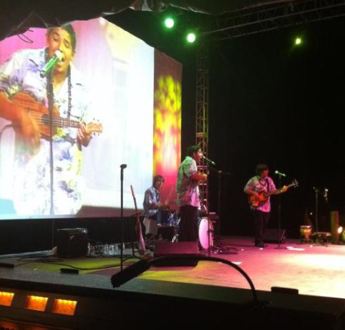 This is me playing a Luau show in Arizona!
