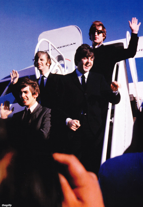 thegilly:  Arrival at San Francisco Airport on their 1964 US Tour, 18 August 1964.