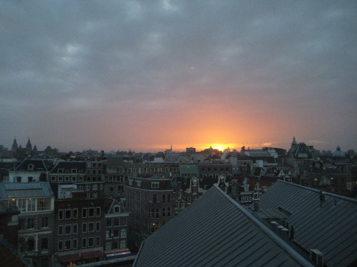 Beautiful sunset Location: Amsterdam