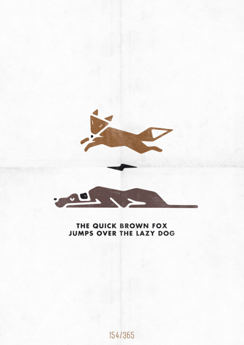 mypotofpotatoes:  The quick brown fox jumps over the lazy dog by Hannes Beer.