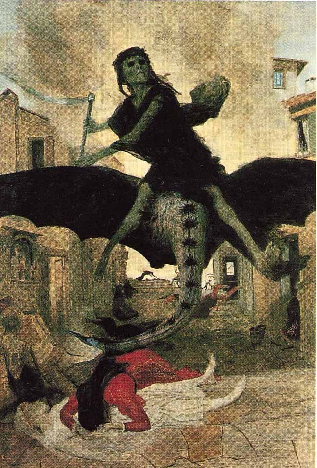 rhade-zapan:  The Pest by Arnold Bocklin