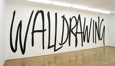Typeverything.com 'Walldrawing' by Sol Lewitt. (via visual-poetry)