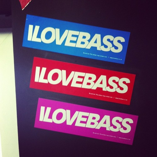 New @ilovebassuk stickers. 20 x 6cm (Taken with instagram)