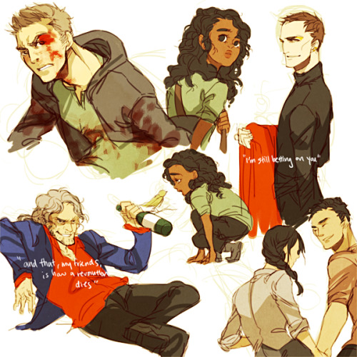 teaat2am:  All the Hunger Game reqs in one go Cato, Rue, Haymitch, Cinna, Katniss, Gale  asdf Love, love love, this Cinna. He's just so classy.