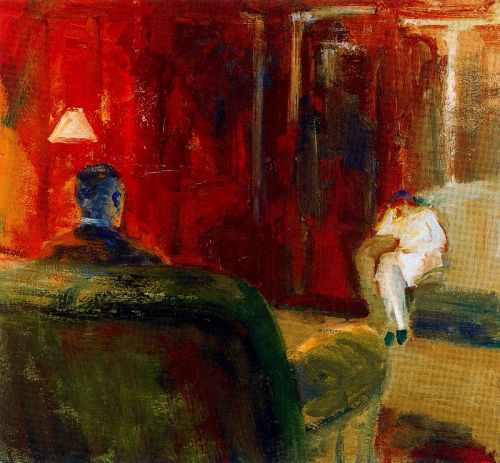 loverofbeauty:  Elmer Bischoff (American, 1916–1991) - Interior with Two Figures, 1965.