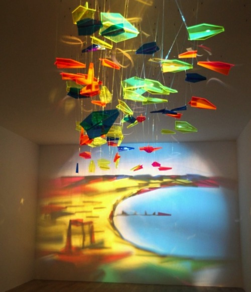 "ruineshumaines:  Rashad Alakbarov from Azerbaijan is ""painting"" with light in ways that don't even seem possible. He organizes found objects into formations that cast light and shadows onto walls in the most spectacular creations. Also known as the ""master of shadows,"" Alakbarov plays with the ideas of concealing and revealing with his giant installations. Upon initial view, his pieces are seemingly in disarray. After further investigation, the viewer discovers a painting of shadows and light cast on the wall and is able to look at the piece in a different way, with a fresh, new set of eyes. The final results are mesmerizing. This work is currently on view through January 29 at De Pury Gallery in London.Fly to Baku @ De Pury Gallery"