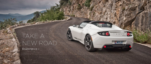 The Tesla Roadster boasts 0 to 60 in 3.7 seconds and a range of 245 miles.