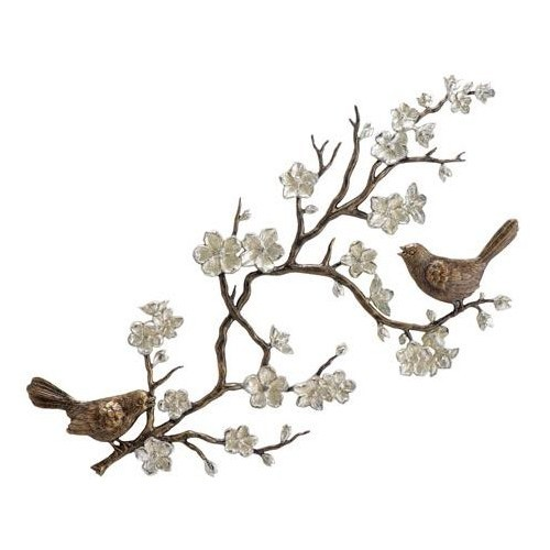 lovelornhymn:  Bird And Cherry Blossom Wall Spi Home Wall Sculpture Wall Decor Home… (clipped to polyvore.com)
