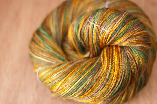 daintyloops:  Dainty Loops Yarn - Changing Leaves Weight: SockMaterial: 50% Superwash Merino / 50% SilkYardage: Approx 430 yrdsColor Way: Changing Leaves, OOAK (One of a kind)