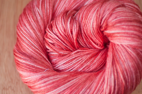 daintyloops:  Dainty Loops Yarn - Funny Valentine Weight: SockMaterial: 50% Superwash Merino / 50% SilkYardage: Approx 430 yrdsColor Way: Funny Valentine, OOAK (One of a kind)