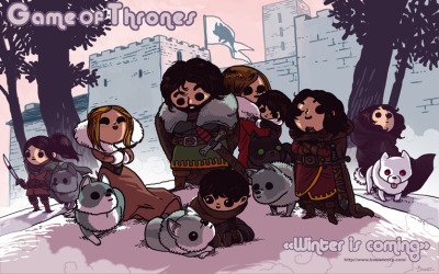damnguido:  fuckingmultiverse:  damn6uid0:  Cute Game of Thrones Fan Art by French Artist Boulet. Go Visit Her site for more… http://www.bouletcorp.com/blog/2012/01/17/fan-art-kawaii-encore/  OH MAI GAWD LOOKIT THE PUPPIESmy brain stops functioning around direwolf pups   I know right!? Dey soo kyoot ^-^  AWW DIREWOLF PUPPEHS :D