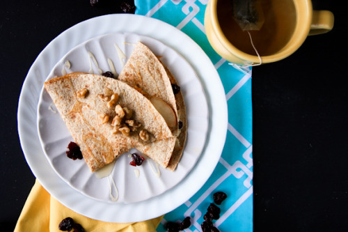 pear and cheddar breakfast quesadillas: recipe here