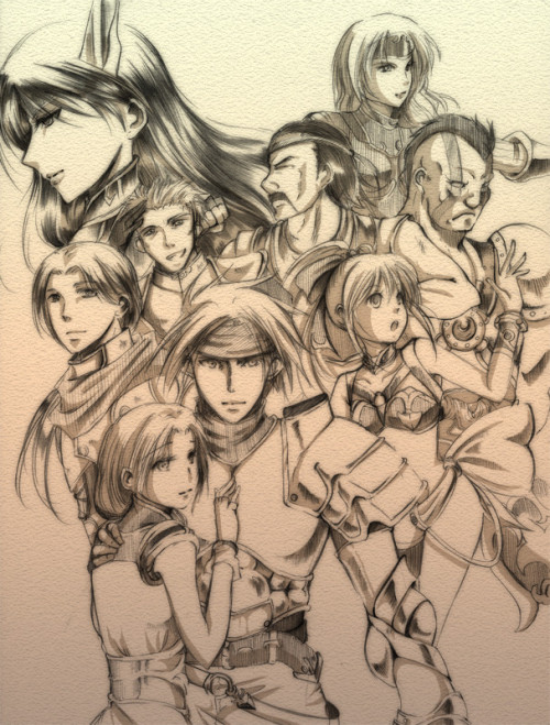legendofdragoon:  Art of the whole crew, by Zerochan!  Omg. This is AWESOME