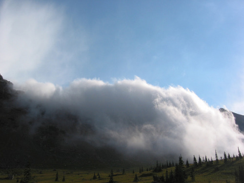 Fog over the Continental Divide by glaciernps on Flickr. One more shot of the fog drifting over the Continental Divide near Sue Lake Bench, above Fifty Mountain Camp. Outdoor Sporting Goods