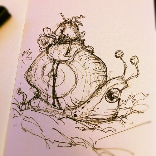 Snail rider concept sketch (Taken with instagram)