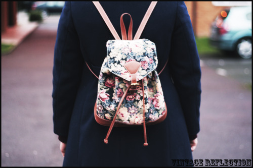 My floral back pack.