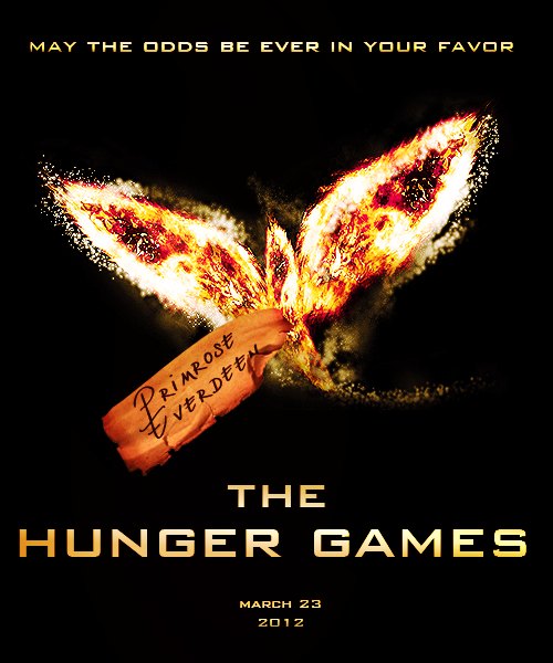 catnus:   My own version of a The Hunger Games movie poster.   I did not tag this with my URL because it would take away from the graphic, please do not steal and or use this for anything(backgrounds/icons, whatever) without leaving proper credit.