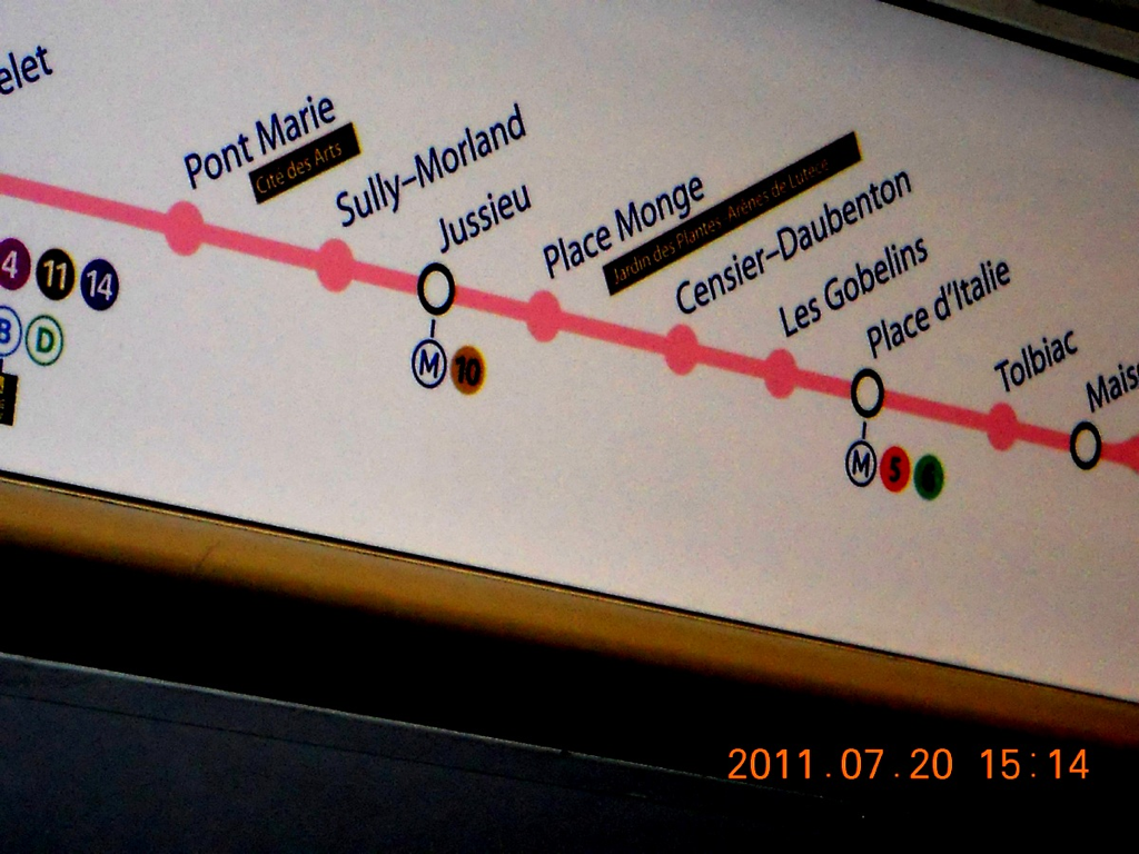 my last name in the metro- PARIS