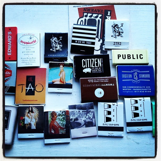 Doug's matches (Taken with instagram)