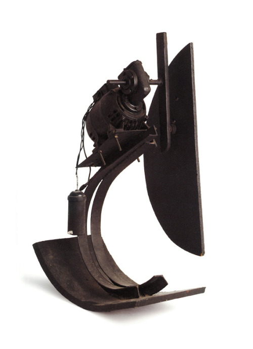 Jean Tinguely 'Matrac' (Bascule), 1967Steel plate and bar, wood panels, electric motor: painted black60 x 48 x 27 cmCatalogue Raisonné: Bischofberger Vol.1 No. 422
