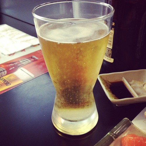 Mmmm. Sapporo beer. (Taken with instagram)