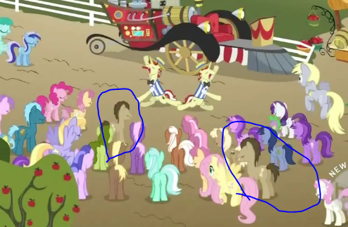 stormythebrony:  confoundtheseponies:  so i noticed this in todays episode.  TWO DOCTORS  I see, two Doctor Whooves, Derpy, and Lyra. :3   OK, now they're just fucking with us…