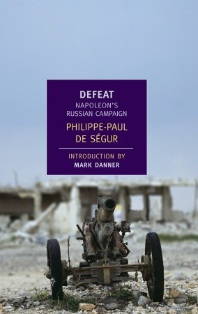 BOOK REPORT: DEFEAT by Phillipe-Paul De Segur It shouldn't be sad to see tyrants stumble, but still it kind of is. As much as you know that conquering Europe is a bad thing, the rise of Bonaparte from obscure Corsican foot soldier, to head of the French army, to ruler of the whole nation, to conquerer of all the ancient crowned dynasties still ranks as a singular ascent.  In European history only Joseph Stalin can claim to have come from so little to so much, not only taking over his country but leading a beaten down ramshackle country to conquer a good portion of the world.  Hitler overran a lot but his conquest was only stable for the merest blink of the eye before the decline began; it was more like a rabid dog running amok than a true stable ascent.  Of course, Stalin died with his crown firmly on his head and his empire at its height, proving that not all gamblers eventually run out of luck.  (It worked out okay for Mao as well). Such was not Napoleon's fate and this book, written by his aide de camp, tells the story of when fortune suddenly desserted its most beloved child. Napoleon up close in this book is, if you can forget about the conquering Europe thing, a pretty likable little dictator.  He's always got a kind word for his troops and can't stand to see them punished, keeps his head up in the worst crisis.  He's not even very much of a tyrant and his generals talk back to him constantly and ignore his orders.  I guess that gets to the root of what's appealing about Napoleon, that in contrast to the old armies and nations of Europe where every inch of your career was determined by your birth, he created the first great hierarchy of the talented and the energetic in his army, with the most fluid structure ever seen in Europe, giving his commanders huge autonomy to press the battle as they saw fit.  Unlike Stalin who was ruled tyrannically over small and and more democratic states, Napoleon's enemies were no great heroes by and large and much as we can't approve of that invading stuff, there are no tears shed for the Hapsburgs like there were for the people of occupied Poland for 40 years. If you are a fan of disaster porn - the horrific details of a great, well laid plan gone horribly wrong this book will not disappoint with its vivid descriptions of the gruesomeness of Napoleon's retreat and what his men when through as the greatest army Europe had ever seen was flayed to death by the cold, hunger and pillaging cossacks. Any book of history that makes illustrates how easily the fate of the world could have been different is okay by me: if Napoleon's temper has not been quite so restless, if he had stayed put for a few more months in Poland, he might well have wrung a treaty out of the tsar.  And if the empire had survived…one can easily see ripple effects all the way to the present.  Germany would never have unified. Which would have meant there might not have been a Franco-Prussian war, which produced the lingering resentments on the part of the French over the Alsace which produced the First World War, which produced not only the Bolshevik revolution but the lingering resentments on the part of the Germans which led to the Second World War. Onto the Cold War.  So if Napoleon had just sat tight for a few months, 200 years of peace and harmony would have been ours.   Of course, just because those wars didn't happen, doesn't mean other wars would have, as they surely would have. Napoleon deserves none of your tears but the collapse of such a dynamo is always, somehow poignant as Richard the Third first showed us. The Rushfield Babylon Recommendation: Highly.