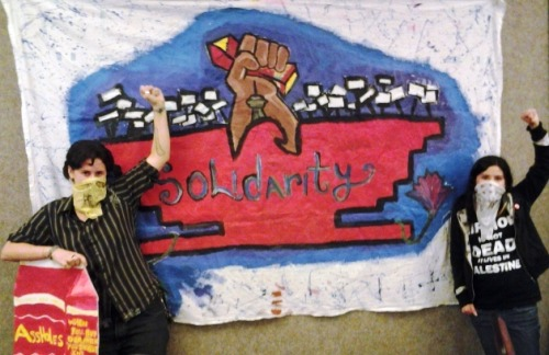 foxfireartscollective:  Solidarity Action in Support of Ruby Ridge Workers
