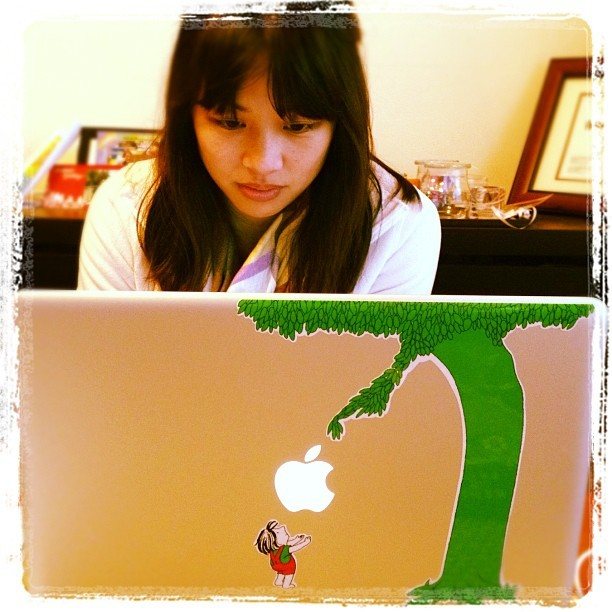 Babe got her #GivingTree decal (Taken with instagram)