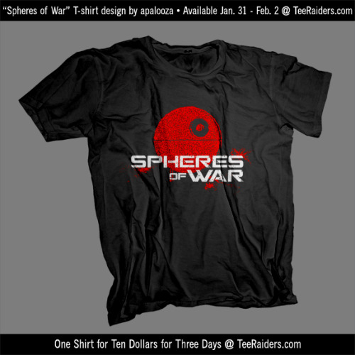 From Jan 31 - Feb 2 this t-shirt will be available at www.teeraiders.com for just $10!It must be the hottest xbox game in a galaxy far far away!