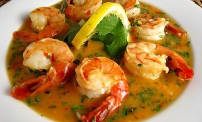 Shrimp in Lemon Garlic Sauce.