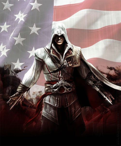 gamefreaksnz:  RUMOUR: America, Fuck Yeah Next Assassin's Creed game will be set during the American Revolution  The next Assassin's Creed is rumoured to feature a new protagonist and switch setting to the American Revolution.  ???????? CANT WAIT!!! OMG OMG OMG OMG OMG OMG !!!!