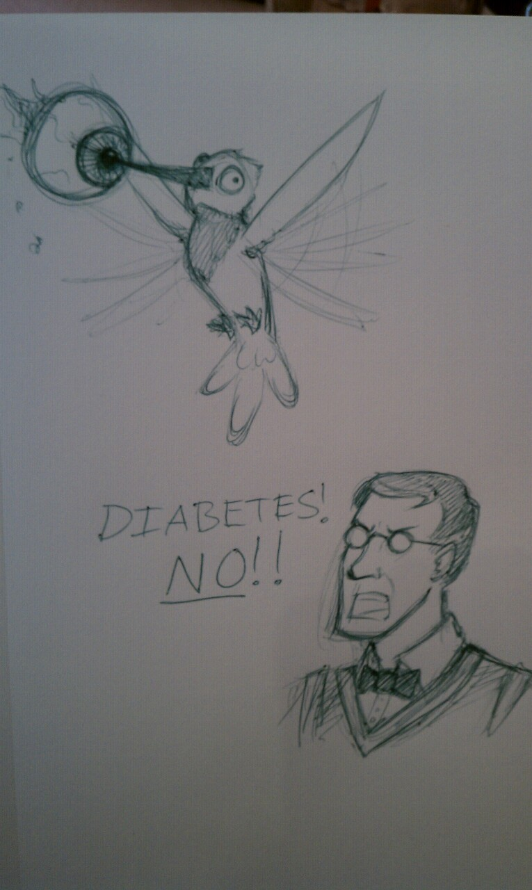 New headcanon: Medic also has a hummingbird named Diabetes.