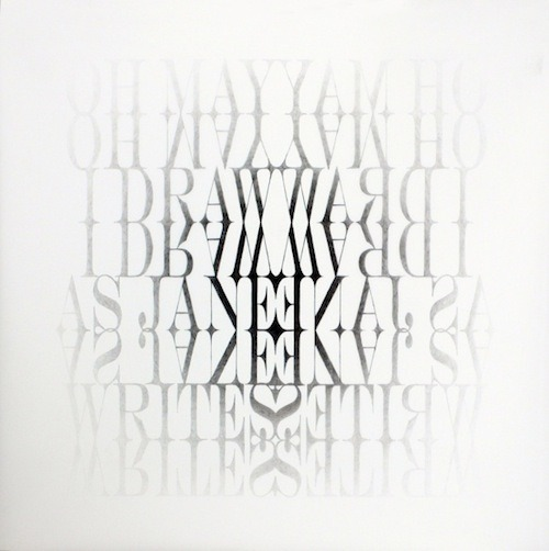 Judith Ann Braun, Symmetrical Procedures, Oh May I #3, (Texts), 2009
