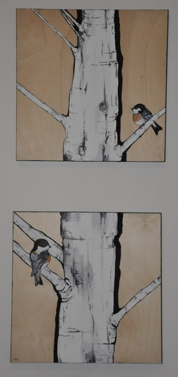 eatsleepdraw:  Swallows on birch  2009 itsrachelthornton.tumblr.com