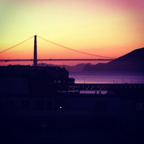 My view from work every day! #GoldenGateBridge #sanfrancisco (Taken with instagram)