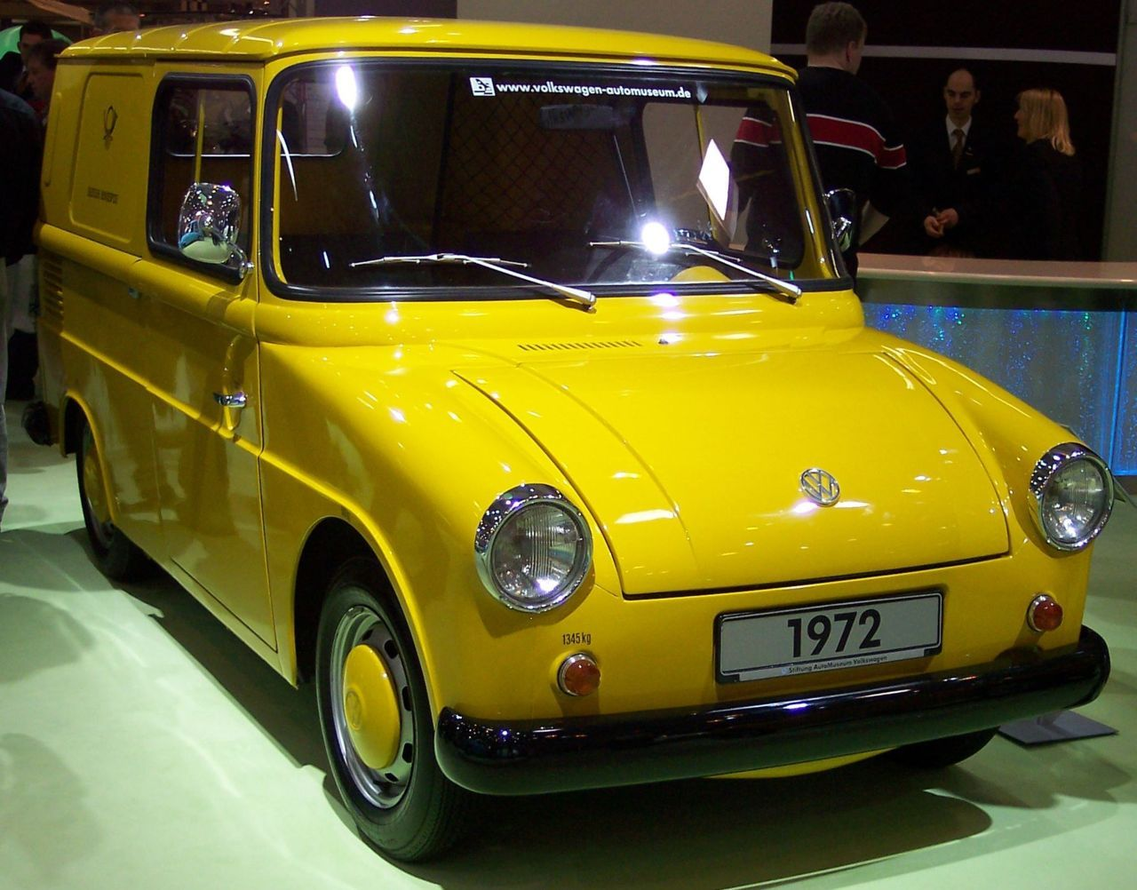 """What's this?"" you might ask. It's a VW 147, which was developed in the mid 60s by Volkswagen and Westfalia (who produced the camper vans) for the German Post as a delivery vehicle, mostly for country postmen. It was based on a Volkswagen Type 1 Beetle chassis, and the shape sort of looked like a Type 3 (notch back) and VW Kombi van combined into one disproportional car; it was either nicknamed ""Fridolin"", or less tastefully, due to its shape, ""Contergan"", which was the German brand name for the drug ""Thalidomide"", which caused so many malformed baby births.  It hat sliding doors, one fixed seat and (sometimes) one folding front seat, storage space in the back. The axles were from the Volkswagen Karmann Ghia to give it a little wider wheel base. Only 6,126 were built between 1964 and 1973; now they enjoy real collectors value… I used to own one — a long time ago; it was the only vehicle I ever drove, which found hills [= it lost speed] where one would not see any incline in the road surface… :D"