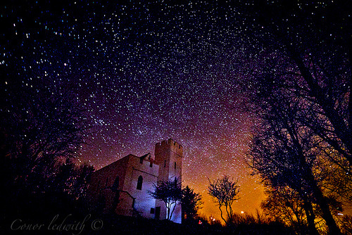 Clydagh Castle taken on a dark night allowing the stars to shine in all their glory. Photo by Conor Ledwith (AKA The Finch)