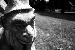 "Title: The Pensive Grotesque - Photography by eCAB.  From Notre Dame to New Jersey, this Grotesque does a good job of ""warding off evil spirits."" You will start to notice a trend in my photography where I force / exaggerate a shallow depth of field (DOF). Copyright (c)2007"