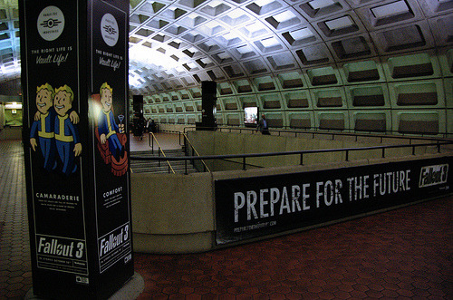chelseaheckabad:  fuckyeahfallout3:  Fallout 3 ads in the D.C. metro.  Crying. CRYING.