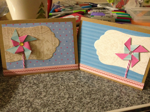 01-28-12 - Made cards today. Fun. :)