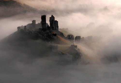 enchantedengland:  curiae:Corfe Castle, Dorset by davidbunting on Flickr.