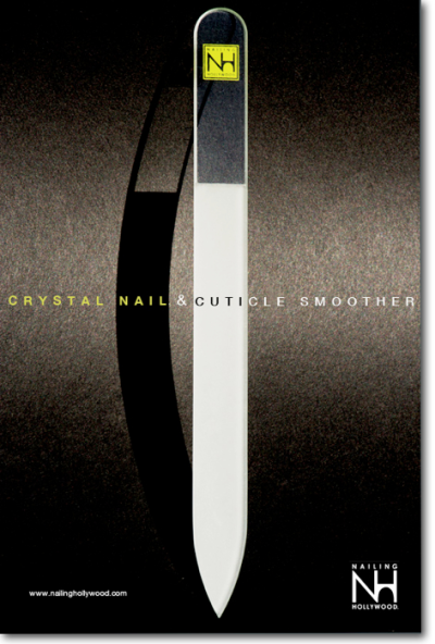 The Nailing Hollywood Crystal Nail & Cuticle Smoother Campaign shot at Space 905 Studio in Hollywood, CA. Photo by husband and wife team Photographer, David Muller and Celeb Nail Stylist, Jenna Hipp