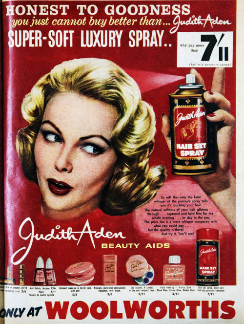 Judith Arden beauty aids, 1959