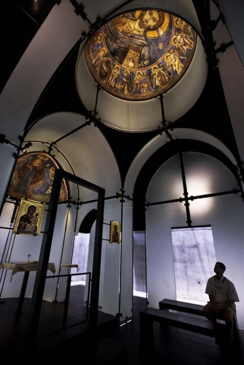 Last Chance to see Houston's Byzantine Fresco Chapel before the Frescoes are returned to the Orthodox Church of Cyprus. More images and information in the full article via Architangent. Images courtesy the Menil Collection.